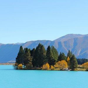 Aguas turquesas de Nueva Zelanda