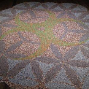 Obra realizada con semillas