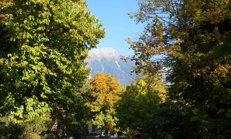 Los Alpes desde los jardines imperiales de Innsbruck