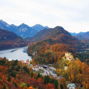Vistas desde el castillo de Neuschwanstein, Alemania