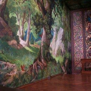 Mural en el castillo de Neuschwanstein, Alemania