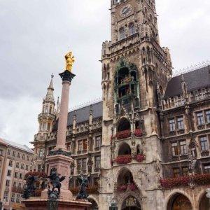 Ayuntamiento de Múnich en la Marienplatz