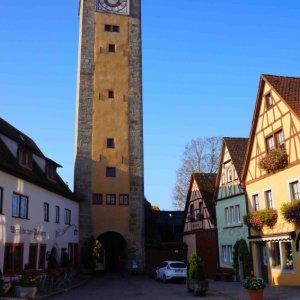 Torre de vigilancia en Rothenburg