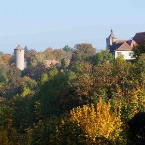 Paisajes de Rothenburg desde el parque Burggarten