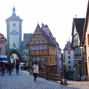 Vista del Plönlein en Rothenburg