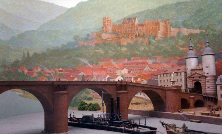Maqueta de Heidelberg, Museo Mercedes-Benz, Stuttgart