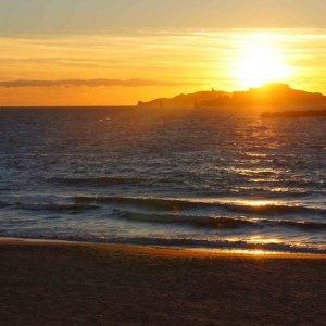 Atardecer en la playa de los catalanes, Marsella