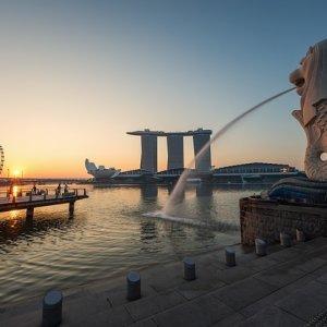 Postal típica de Singapur
