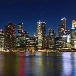 Río Singapur y su atractiva vista