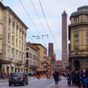 Centro de Bolonia y su torre