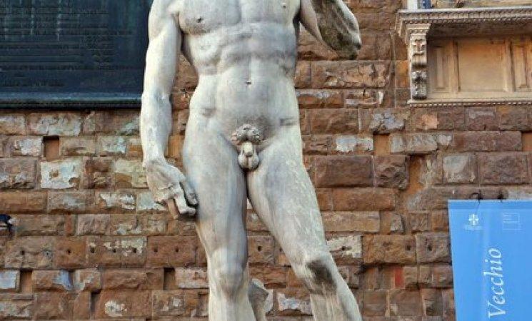 Estatua de David frente al Palacio Vecchio, Florencia