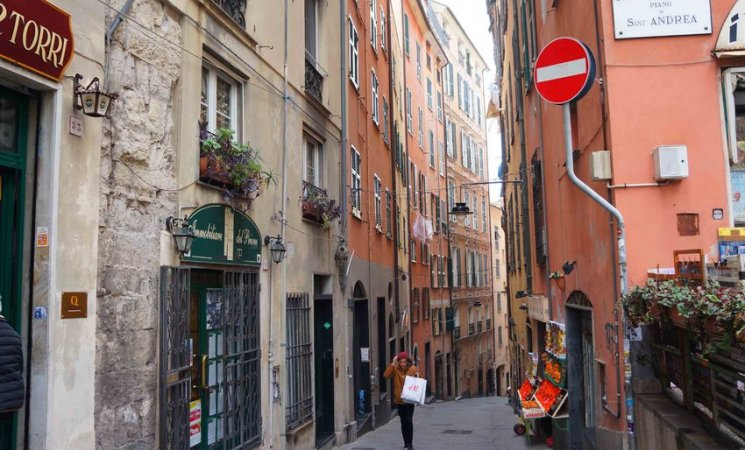 Zona medieval de Génova