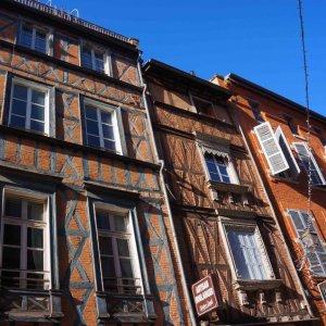 Calles del centro histórico de Toulouse