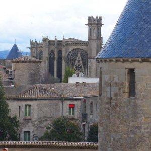 Basílica de Saint-Nazaire, en la Ciudadela de Carcassonne, Francia