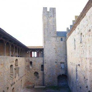 Castillo Condal en la Ciudadela de Carcassonne, Francia