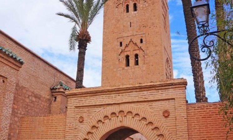 Alminar de la Mezquita Kutubía en Marrakech