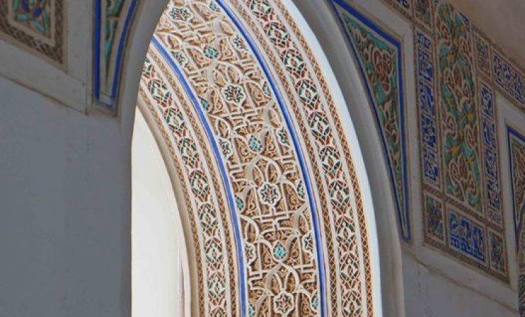 Detalles del Palacio de la Bahía, Marrakech