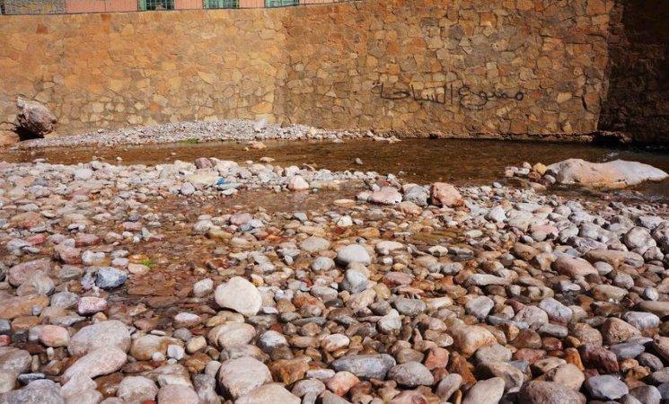 Nacimiento del río Todrá, Marruecos