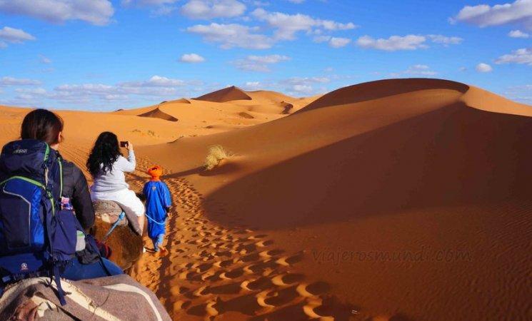 Dunas del Sahara en Merzouga, Marruecos