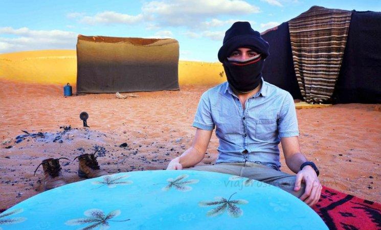En mi campamento en el Sahara, Marruecos